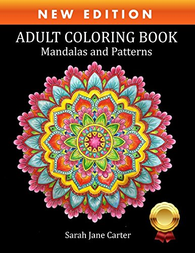 Adult Coloring Book Mandalas And Patterns Sarah Jane Carter Books
